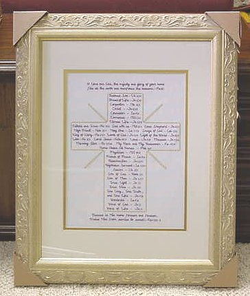 Names of Jesus Cross Photo