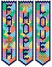 Beaded Faith Hope and Love Banners