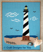 Crochet Cape Hatteras Lighthouse Afghan
