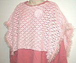 Crocheted Pink Capelet