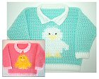 Crochet Duckling Sweater
