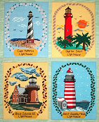 4 Season Lighthouses in Plastic Canvas