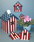 Americana Birdhouse Home Decor Set
