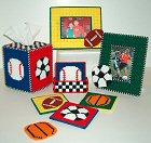 Plastic Canvas Sports Decor Set