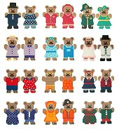 Plastic Canvas Teddy Bear Couples of the Month