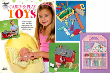 Plastic Canvas Carry & Play Toys