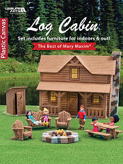 Plastic Canvas Log Cabin Book