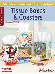 Plastic Canvas Tissue Boxes & Coasters Book