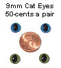 9mm Cat Eyes