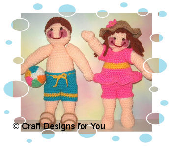 Beach Day Outfits for Jeremy and Julie Dolls