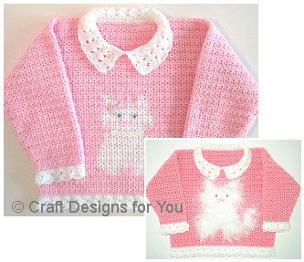 Click here to see this Crochet Princess Kitty Sweater