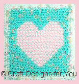 Close Up of Heart Square on Afghan
