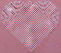 Plastic Canvas 6-inch Heart