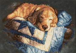 Snooze Stamped Cross Stitch Kit