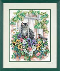 Springtime View Reflection Stamped Cross Stitch Kit