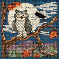 Night Owl Mill Hill Cross Stitch Kit