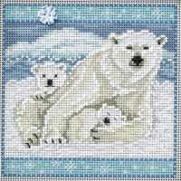 Polar Bears Mill Hill Cross Stitch Kit