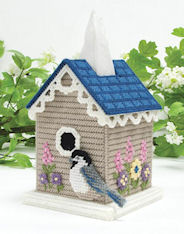 Plastic Canvas Mary Maxim Birdhouse Tissue Topper Kit