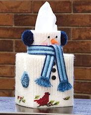 Plastic Canvas Mary Maxim Snowman Tissue Topper Kit