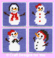Snowman and Snowlady Coasters