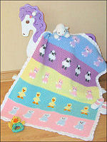 Crochet Baby Animals Blankie