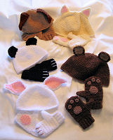 Cozy Critter Hats & Mittens for Kids