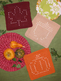Knit Autumn Glory Dishcloths