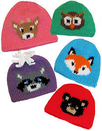 Knit Forest Friends Hats