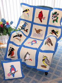 Knit Songbird Afghan & Pillow