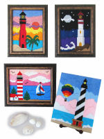 Plastic Canvas Longstitch Lighthouse Scenes