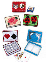 Plastic Canvas Longstitch Playing Card Cases