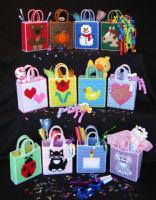 Plastic Canvas 12 Tiny Party Totes