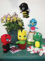 Plastic Canvas Amigurumi Garden Friends