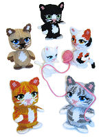 Plastic Canvas Amigurumi Kittens