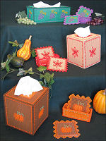 Plastic Canvas Autumn Stencil Decor