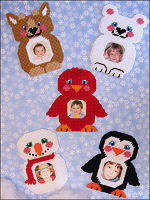 Plastic Canvas Winter Buddy Frames