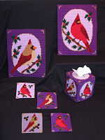 Plastic Canvas Royal Winter Cardinal D�cor